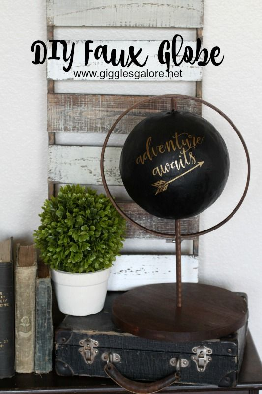 Love the look of painted globes, but don't want to paint your vintage globes?! Make your own DIY Faux Globe with Giggles Galore tutorial.
