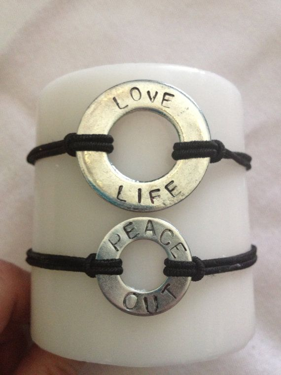 *Large & small sizes available!*  Personalized Metal Stamped Bracelets by Stampped on Etsy, $10.00