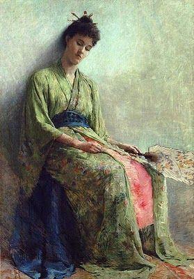Painting by Sir Thomas Frank Dicksee (1853-1928)