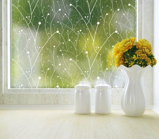 Modern Window Film - Nature Inspired Adhesive Privacy Window Film