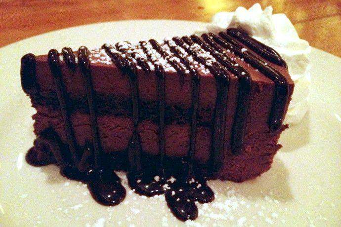 Chocolate mousse cake from James's Gate, Jamaica Plain, MA (from http://hiddenboston.com/foodphotos/james-gate-cake.html) #Boston #cake