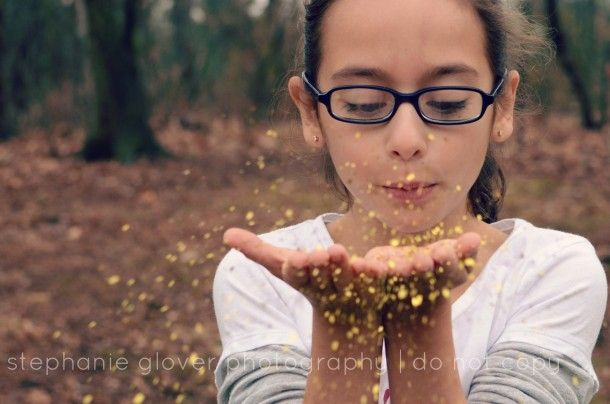 how to photograph glitter