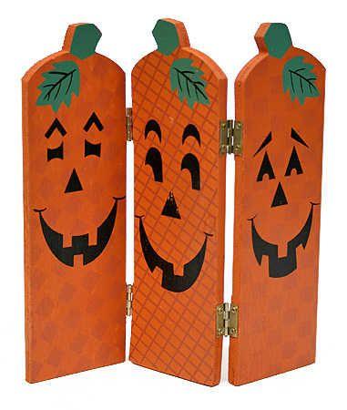 fall wood crafts | Wooden Fall Halloween Pumpkin Screen -Set of 6