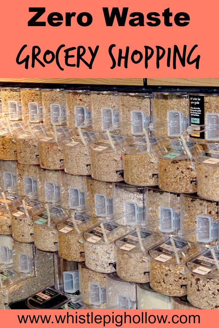 Zero Waste Grocery Shopping: Using bulk bins and reusable containers to reduce waste. #zerowaste