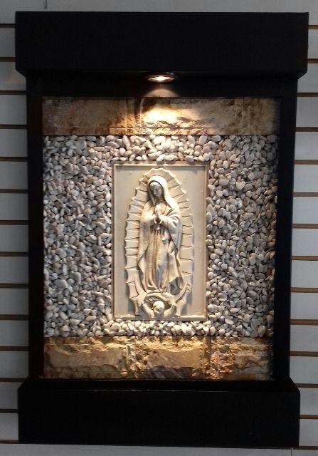 Fuente de Pared o Muro Lloron con Virgen de Guadalupe. Sus Medidas 90 cm de Altura X 60 Cm de Ancho. Solo de venta en www.natdeco.jimdo.com