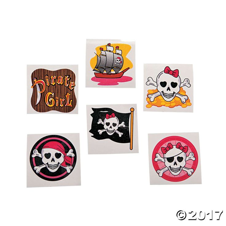 Add a touch of glitz to your pirate wardrobe! Sure to make any girl feel like a high seas princess, these glittering tattoos will add some sparkle to slumber ...