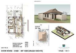 Umlele Heights Type 1: 60 sqm Only R595 000... Plot and Plan .... You choose your brand new Home! For this price this unit offers: 2 Bedrooms 1 BathroomOpen Plan Living/Kitchen/Dining Enclosed Drying Yard ... Included Fees: Water & electrical connection fees. Engineer fees, architects fees. NHBRC registration and applicable fees. Council application and approval fees.  Like our page: https://www.facebook.com/JMNunnHarcourtsMercantile