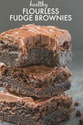 Healthy Flourless Chocolate Fudge Brownies- Just THREE ingredients in the base and a healthy fudge frosting- Absolutely NO butter, oil, flour or sugar! {vegan, gluten free, paleo recipe}- thebigmansworld.com