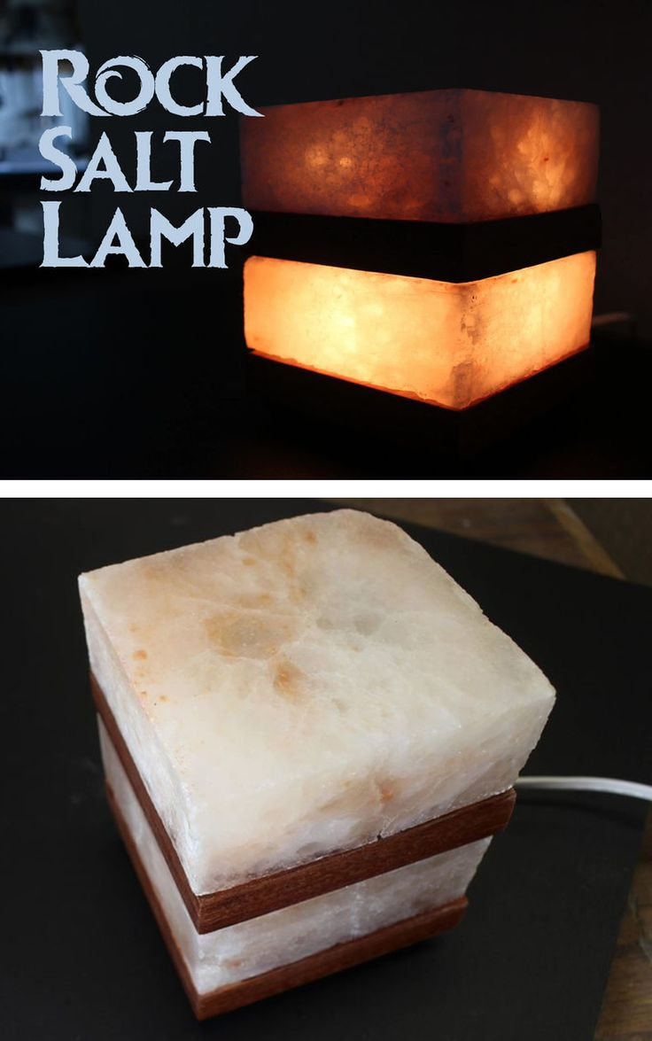 Love rock salt lamps but want a more streamlined look for Diy rock salt lamp