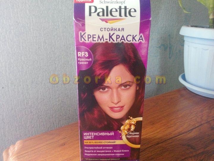 Краска для волос Palette Красный гранат слишком быстро смывается