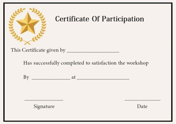 10 best certificate of participation in workshop template for Template for certificate of participation in workshop