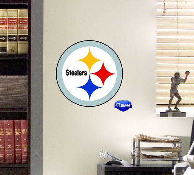 Pro Football Fever - Steelers Team Logo Fathead | Free Shipping, $15.99 (http://www.profootballfever.com/steelers-team-logo-fathead/)