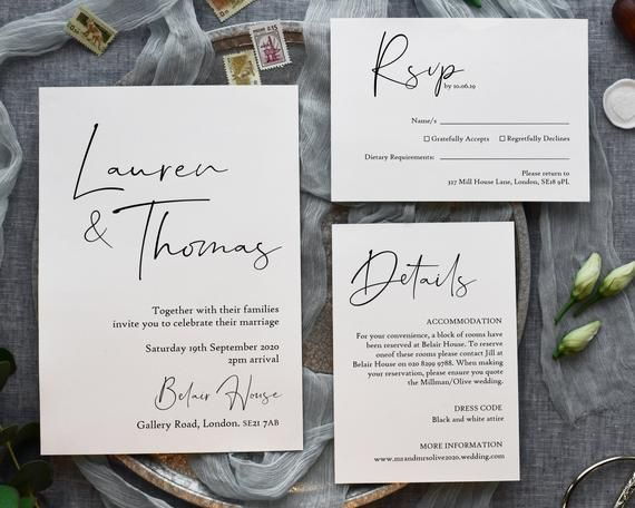 Modern Wedding Invitation Suite Minimalist Wedding Invite Etsy In 2020 Script Wedding Invitations Stylish Wedding Invitation Modern Wedding Invitation Suite
