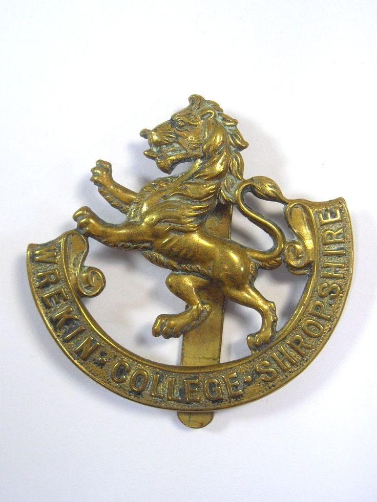 Wrekin College OTC original Cap Badge. in Collectables, Militaria, World War I (1914-1918) | eBay