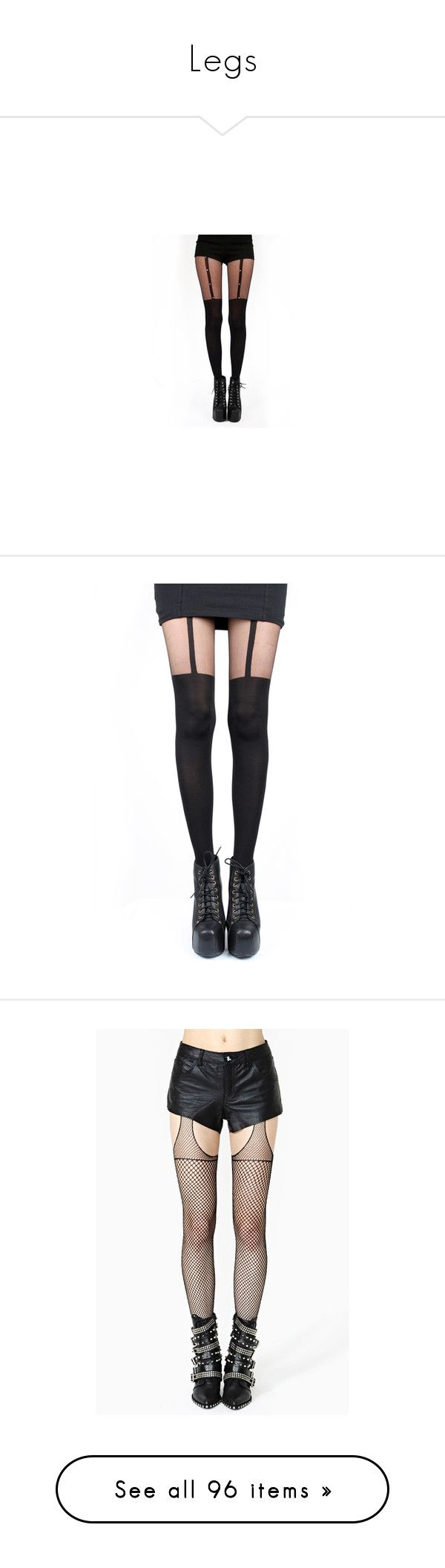 """Legs"" by ilinablooms ❤ liked on Polyvore featuring intimates, hosiery, tights, pants, bottoms, leggings, legs, pamela mann tights, goth tights and pamela mann"