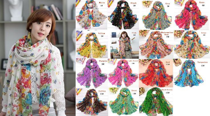 Min order is 10$ many color can choose Wraps Shawl Stole Soft Scarve Flower Lady cotton Scarf $2.70
