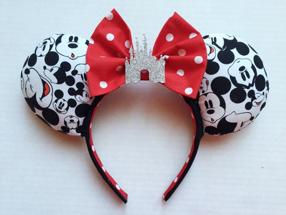 Faces of Mickey Mouse Ears by TheseLittleBeauties on Etsy