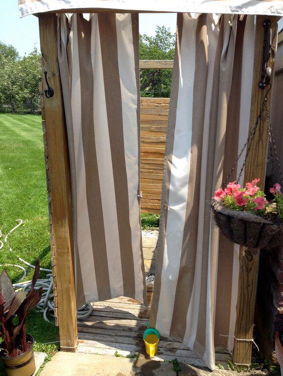 outdoor shower curtain ideas outdoor