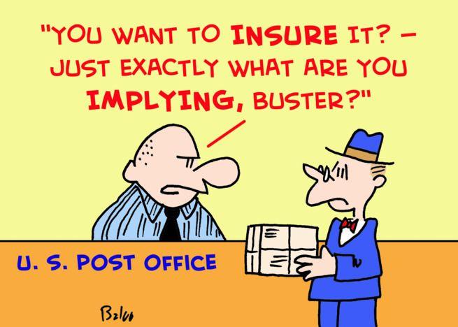 Post Office Mailman Insure Insurance Card Cards Card Design