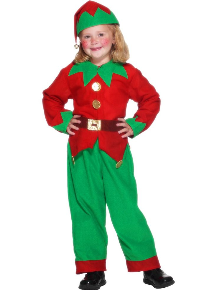 Elf Costume, Child, With Tunic, Trousers, Belt and Hat With Bell, Browse through our excellent range of Children's Fancy Dress. Buy online now