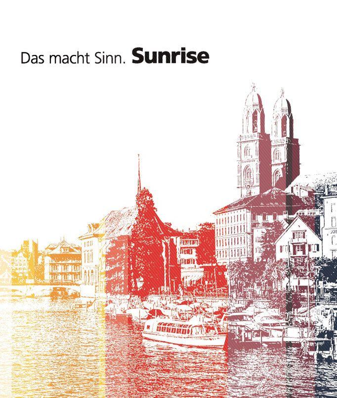 Grafik & Wandgestaltung, Sunrise PoS Produkt Visuals. CICD orientierte Kreation und Produktion der Objekt, Produkt und Shop Branding Visuals.