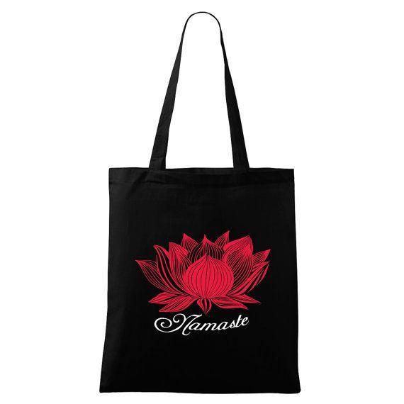 Lotus Namaste bag Yoga bag Eco-friendly printed by DrasiShop
