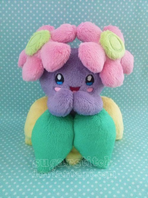 Shiny Bellossom custom plush. Commission, not for sale. Bellossom and Pokemon be…