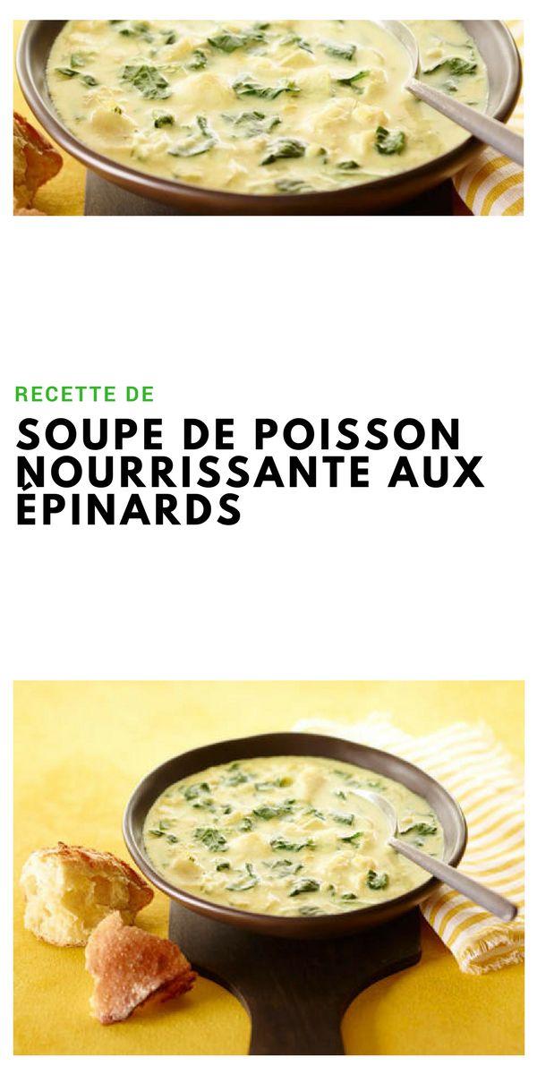 #soupe #poisson #épinard