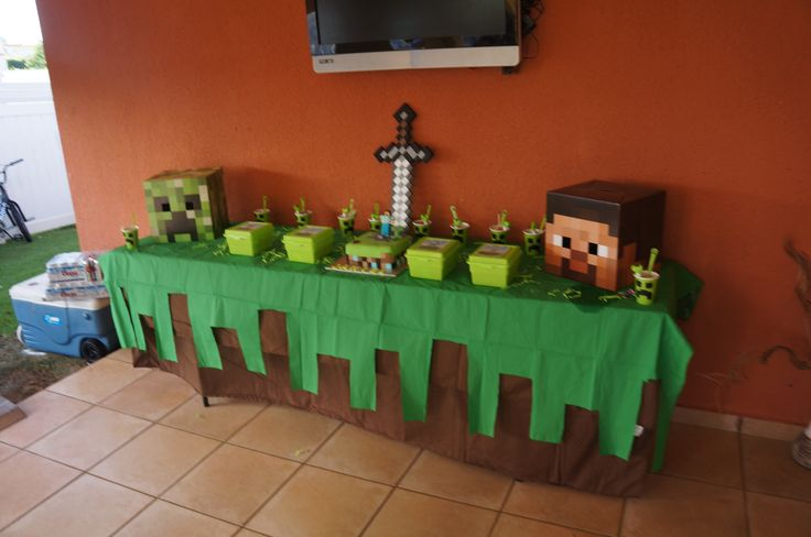 #minecraft party theme