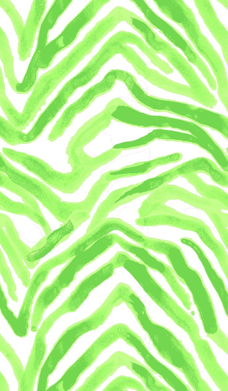 Green Zebra Print PrintsbyHUE