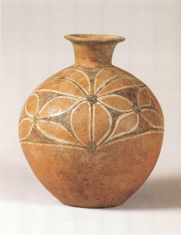 仰韶文化 BC5000﹣2750 河南、陝西 ﹣彩陶花瓣紋壺