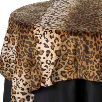 Leopard Fur Print Table Linen Rentals