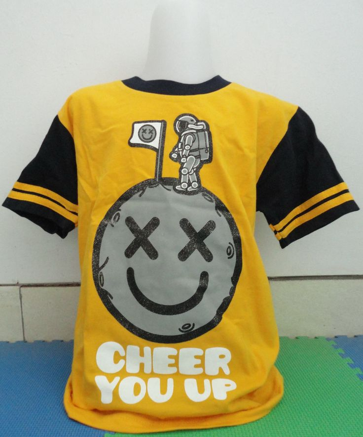 T-Shirt Cheers You Up (Bossini Kids, size 120) Berat 239 gr, Price Rp 90.000,-  For your information, please contact: Email: jjbigstore@yahoo.com atau cs@silvblue.com YM: jjbigstore Twitter: @silvblue Line: silvblue SMS: 0818 0832 9022,021 94185123 WhatsApp 0896-2860-9094