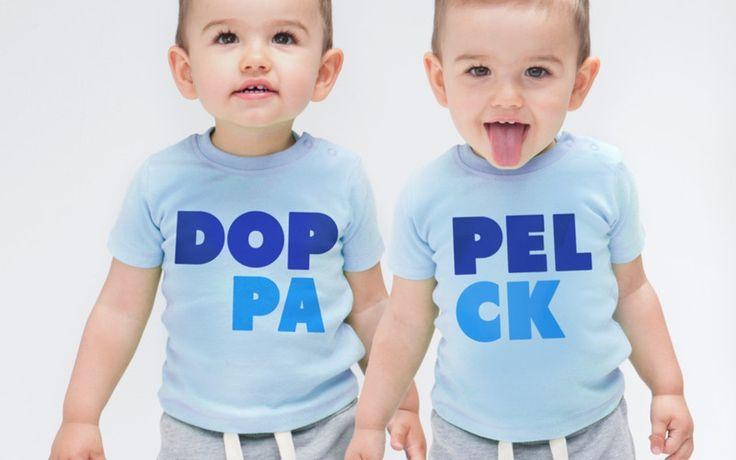 Bodys - Zwillinge, Zwilling Shirts DOPPELPACK viele Farben - ein Designerstück von zackzack bei DaWanda