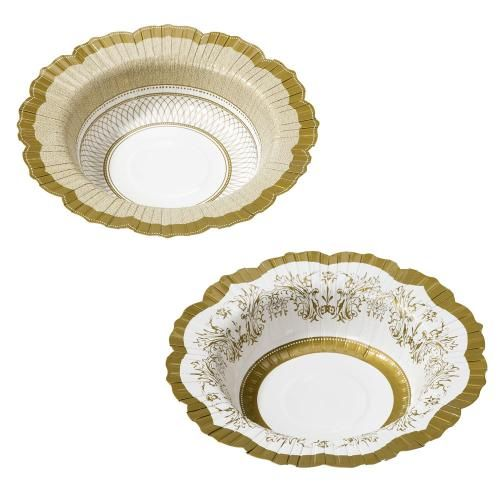 Papperstallrikar - Pappersskål - Porcelain Gold - Ø20