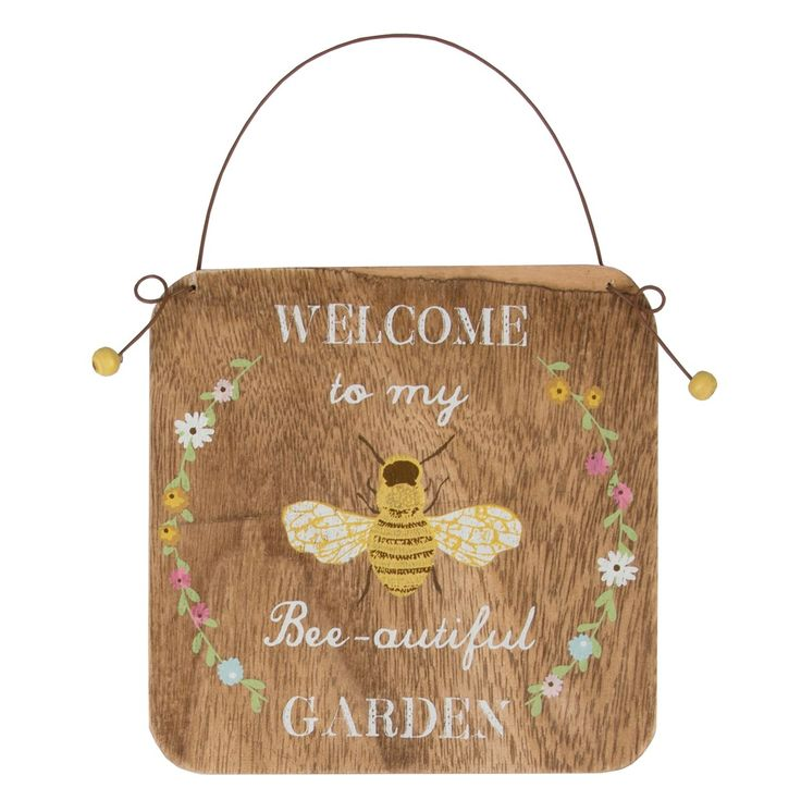 Welcome To My Bee Autiful Garden Small Plaque