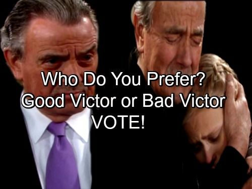 The Young and the Restless (Y&R) spoilers tease that Victor (Eric Braeden) will remain mean for awhile. Forced back to his old ways by Nikki