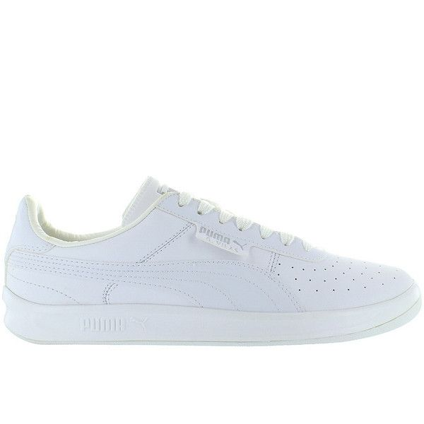 Puma G. Vilas L2 - White Perforated Leather Low-Top Sneaker
