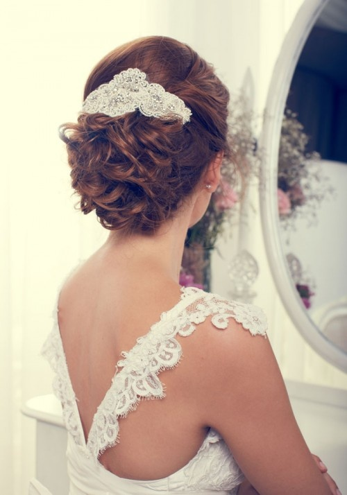 low updo with beautiful comb