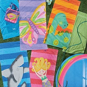 Make your little one's time at the beach even more fun with these fun, colorful towels!