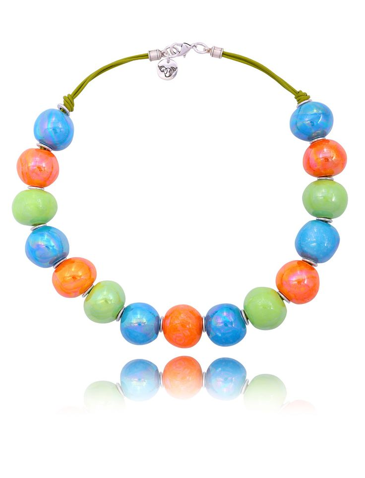 Żyj kolorowo :) #ByDziubeka #naszynik #necklace #jewelry #colorful