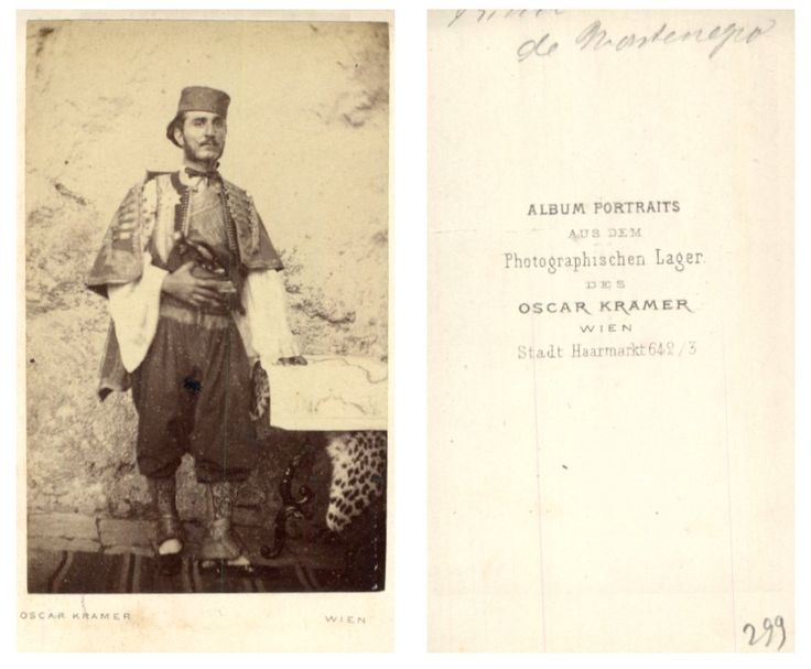 Oscar Kramer, Montenegro    #CDV #portraits #Hommes_