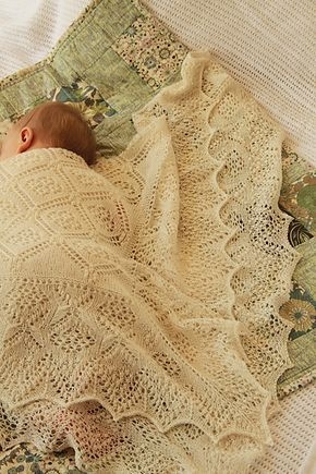 Aldara Shawl pattern by Judy Furlong from The Scrumptious Baby Collection by Fyberspates
