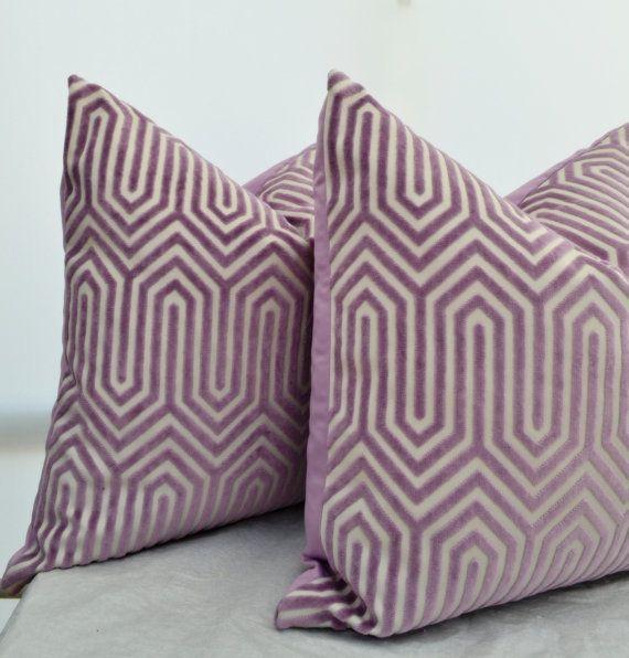 Lavender Pillow Cover,Lavender Velvet Pillow Cover, Purple Velvet Pillow Cover,Velvet Geometric Pillow,Purple Pillow Cover