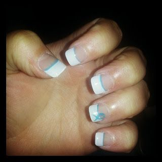 Teal Take Over: Teal Style Showcase: My teal nails for Ovarian Cancer Awareness