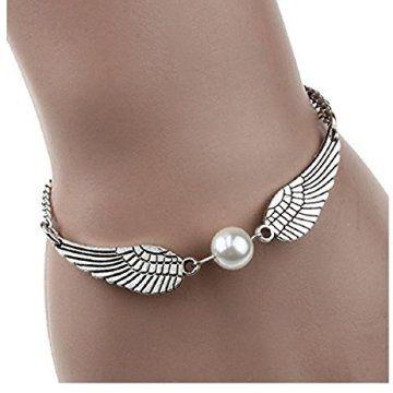 Harry Potter Bracelet - L'Infini d'argent Perles Ailes d'ange Rétro Bijoux Bracelet Colombe De La Paix Matériel: Alliage Taille: 21CMX1CM (L xl)