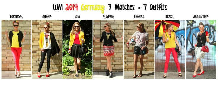 ... to create a special 'Germany inspired' outfit for each German match of the FIFA World Cup Brazil 2014