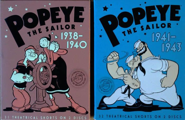 POPEYE THE SAILOR / 1938 - 1940 + POPEYE THE SAILOR / 1941 - 1943 - (2) DVD SETS