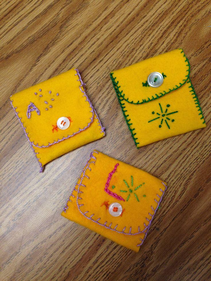 4th grade, embroidery.