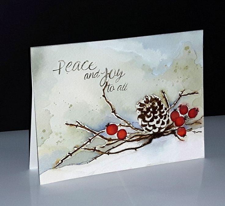 Открытки, новогодние акварельные открытки для парня